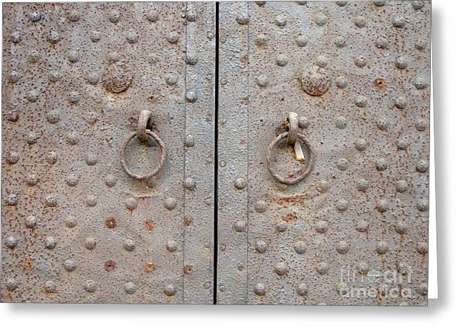 Antique Beijing Greeting Cards - Antique Door Greeting Card by Stefania Levi