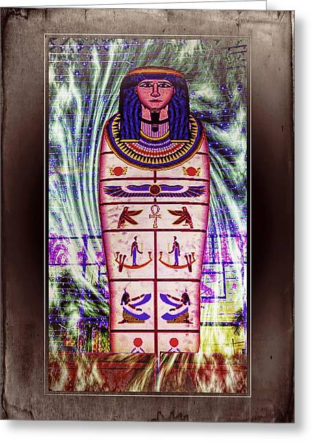Antique Egyptian Magic Greeting Card by Ian Gledhill