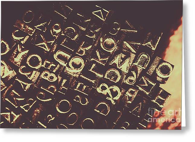 Antique Enigma Code Greeting Card by Jorgo Photography - Wall Art Gallery