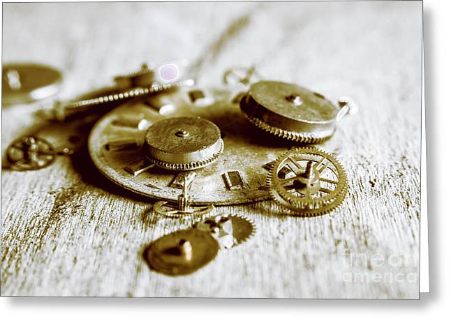 Antique Factory Settings Greeting Card by Jorgo Photography - Wall Art Gallery