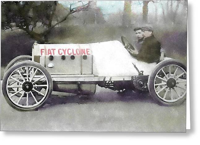 Antique Fiat Racer Greeting Card