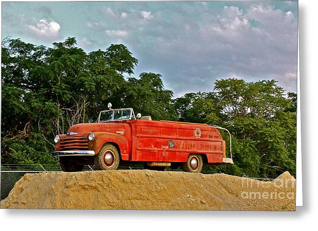 Antique Fire Truck - 8205 Greeting Card