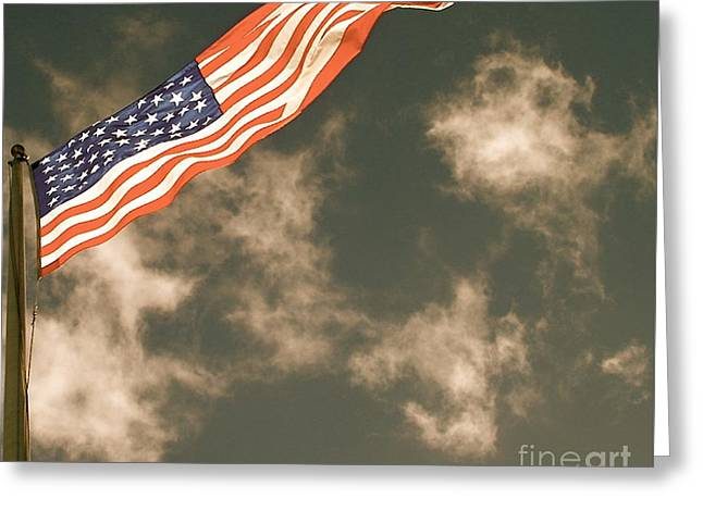 Greeting Card featuring the photograph Antique Flag by Louise Fahy