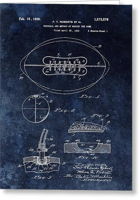 Antique Football Patent Drawing Greeting Card