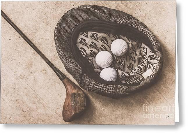 Antique Golfer Still Life Greeting Card by Jorgo Photography - Wall Art Gallery