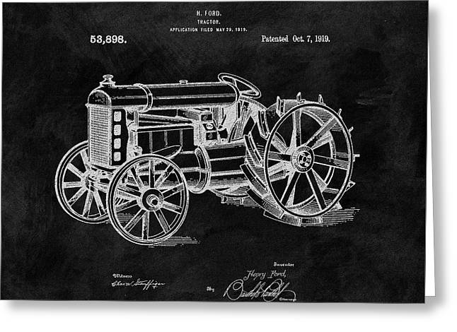 Antique Henry Ford Design Tractor Greeting Card by Dan Sproul