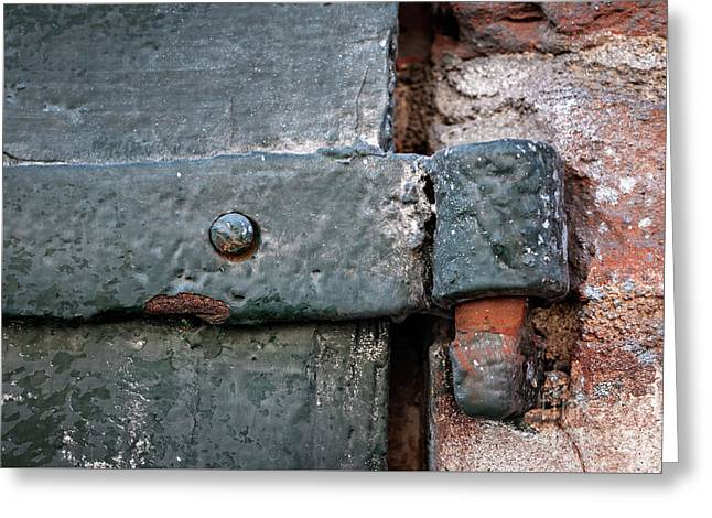 Greeting Card featuring the photograph Antique Hinge by Elena Elisseeva