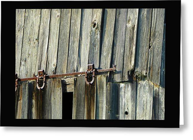 Antique Hinges Greeting Card
