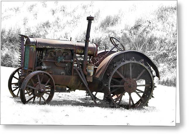 Antique Iron Horse Greeting Card by Kathy M Krause
