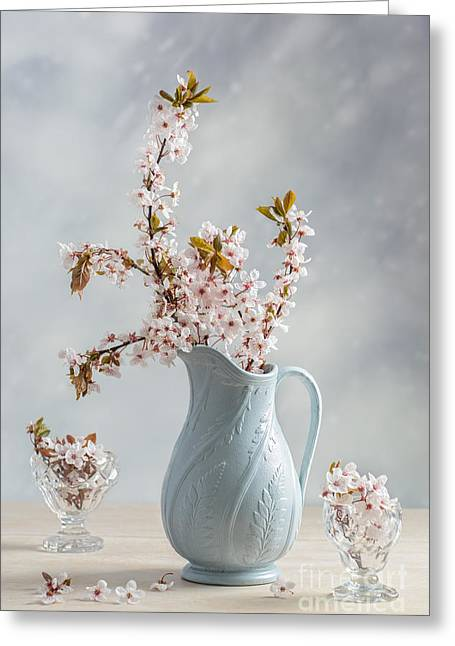 Antique Jug With Blossom Greeting Card