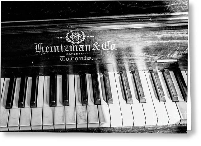Greeting Card featuring the photograph Antique Keys by Brad Allen Fine Art