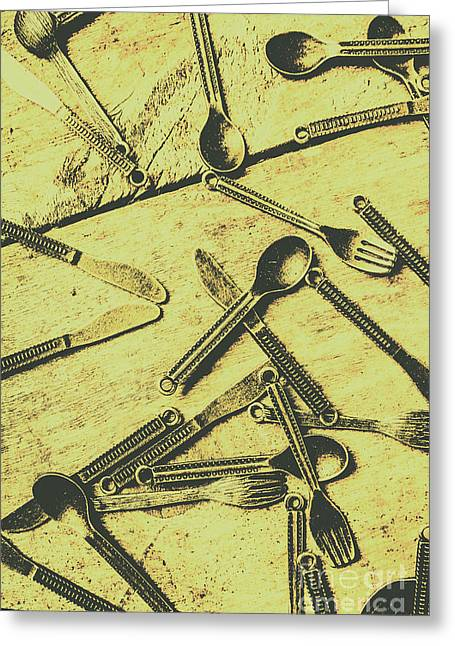 Antique Kitchen Setting Greeting Card