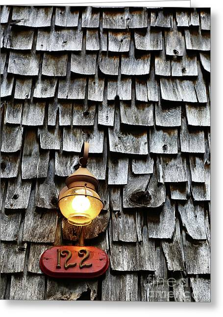 Antique Lamp And Wooden Tiles Frederick Maryland Greeting Card