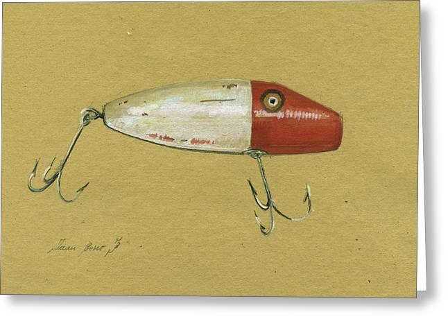 Antique Lure Bait Greeting Card