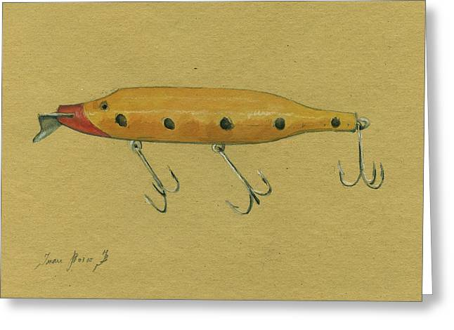Antique Lure Greeting Card