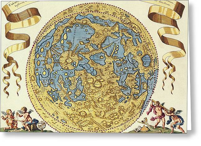 Antique Maps - Old Cartographic Maps - Tabula Selenographica - Map Of The World Greeting Card