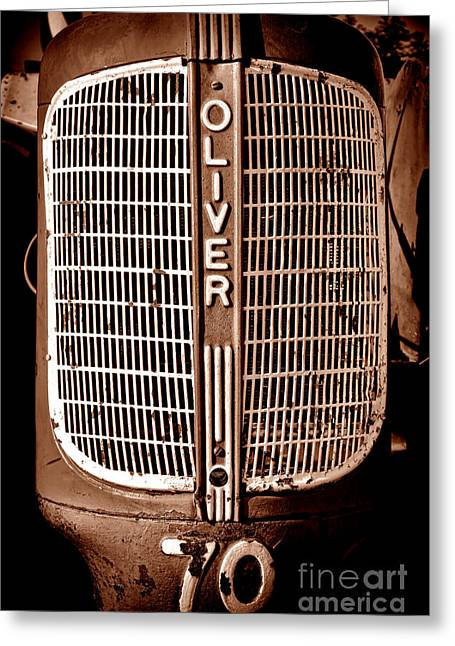 Antique Oliver 70 Greeting Card by Olivier Le Queinec