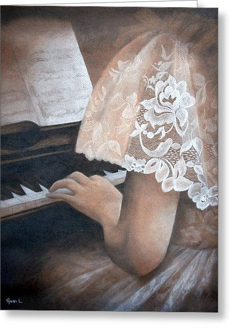 Antique Piano Greeting Card