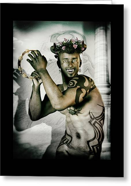 Antique Portrait Of Dionysus Greeting Card by Quim Abella
