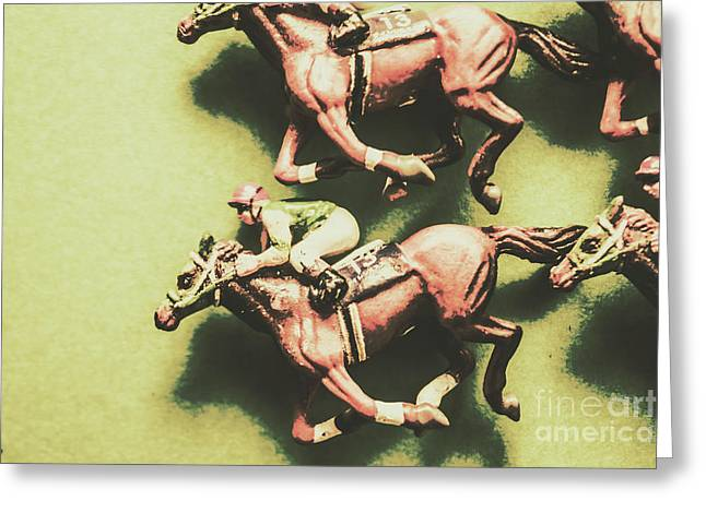 Antique Race Greeting Card