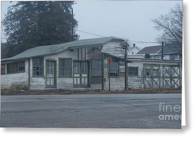 Antique Refueling Station   # Greeting Card by Rob Luzier