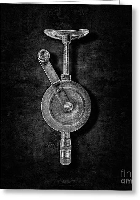 Antique Shoulder Drill Front Bw Greeting Card by YoPedro