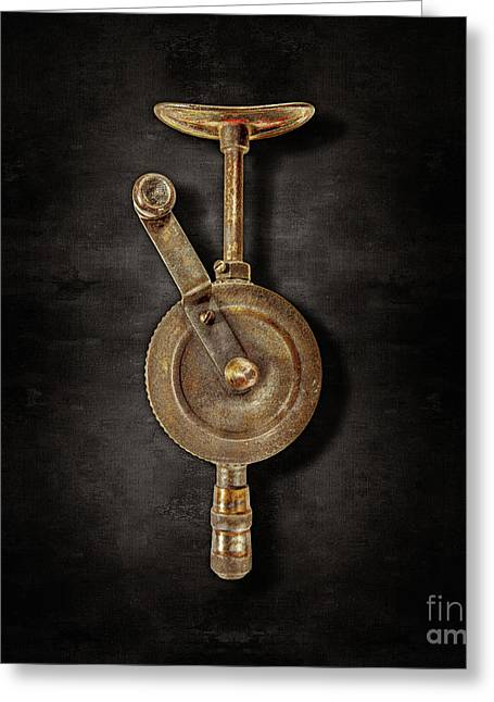 Antique Shoulder Drill Front On Black Greeting Card by YoPedro