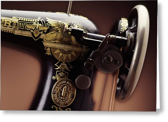 Antique Singer Sewing Machine 4 Greeting Card by Kelley King