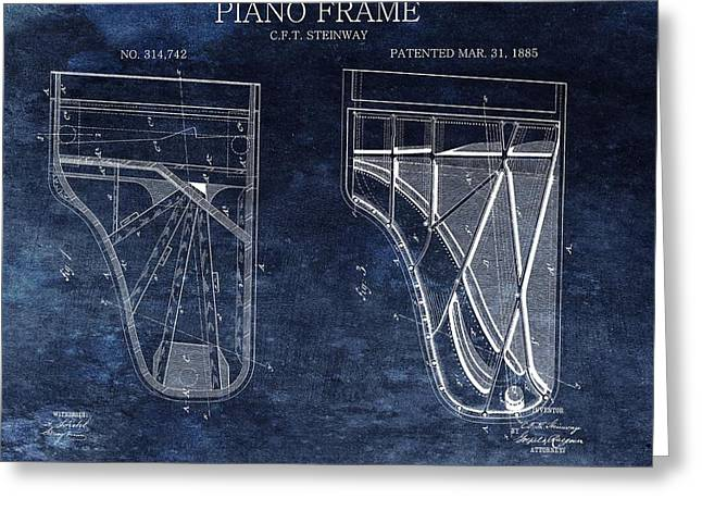 Antique Steinway Piano Patent Greeting Card