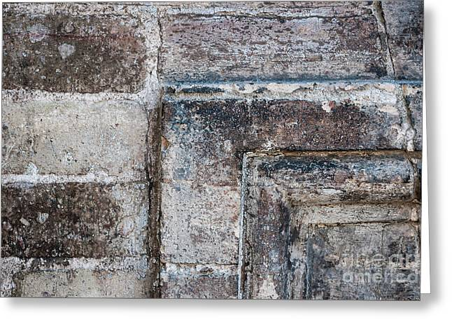 Antique Stone Wall Detail Greeting Card