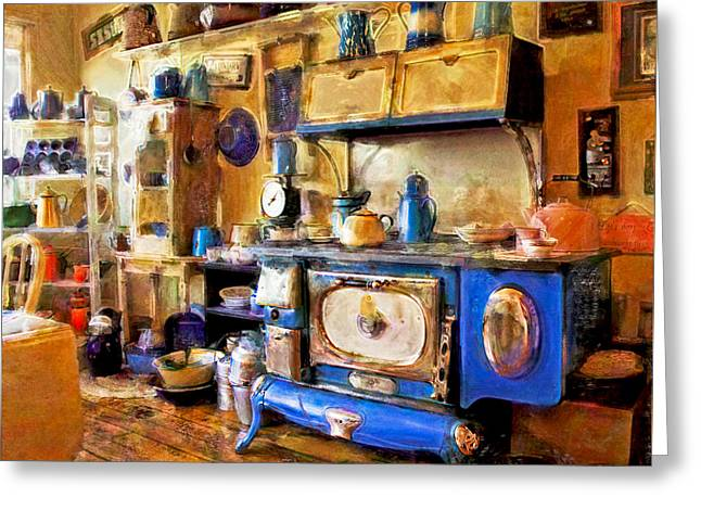 Antique Store Kitchen Greeting Card