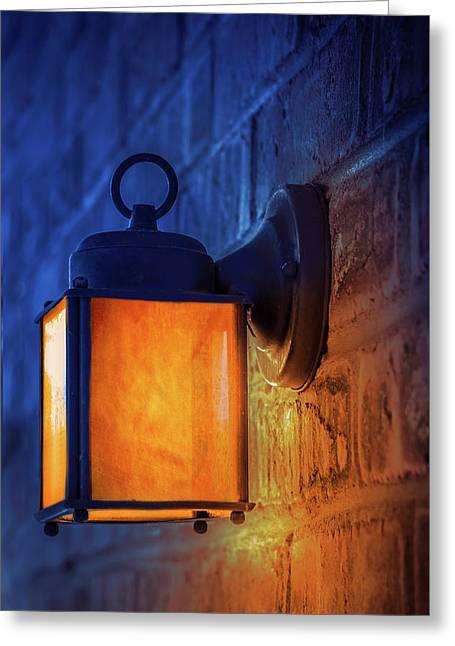 Antique Street Lamp Greeting Card
