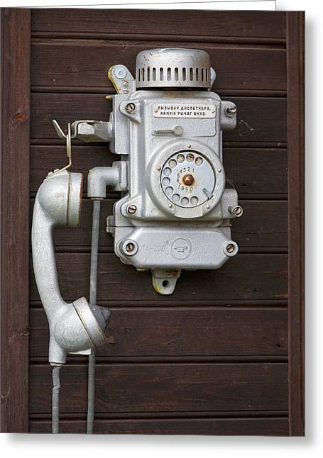 Antique Telephone Greeting Card by Jaak Nilson
