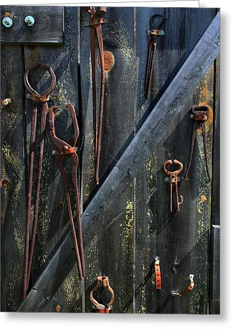 Greeting Card featuring the photograph Antique Tools by Joanne Coyle
