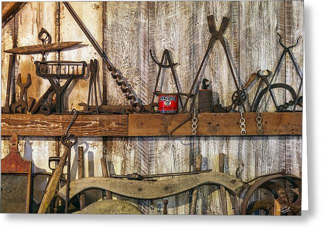 Antique Tools Greeting Card by Leland D Howard