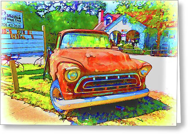 Antique Tow Truck Greeting Card by Lanjee Chee