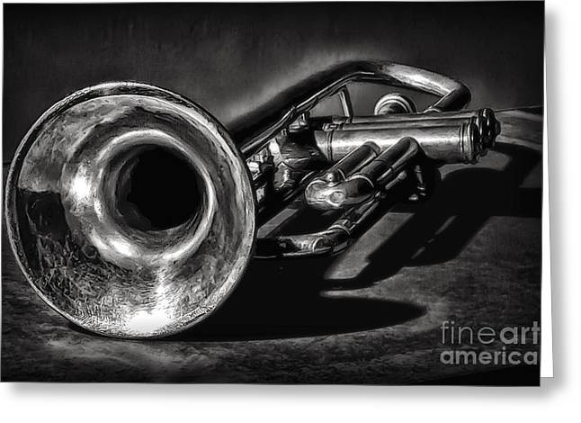 Antique Trumpet 1 Greeting Card by Walt Foegelle