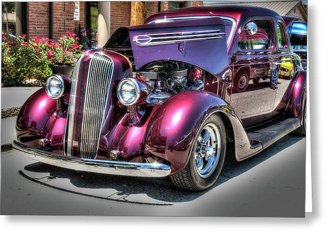 Antique Vibrant Vintage Vehicle 15 Greeting Card by Douglas Barnett
