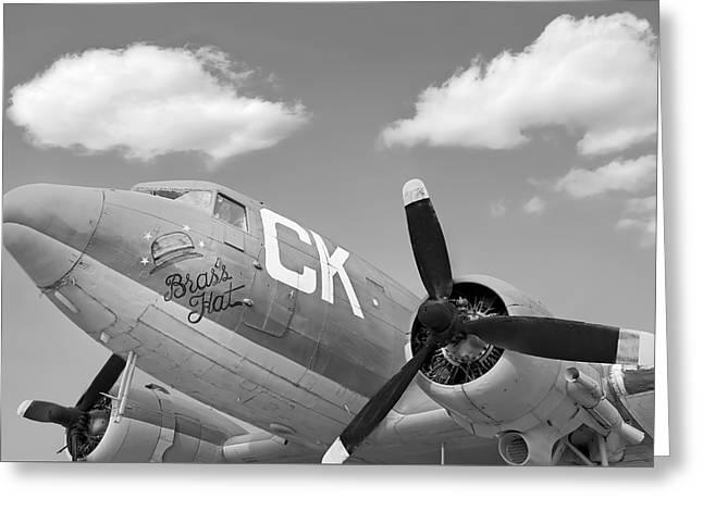 Antique War Plane Greeting Card by Steven  Michael