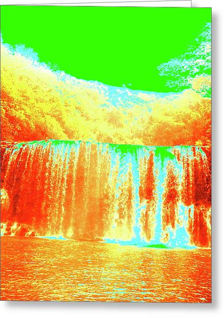 Antique Waterfall Greeting Card
