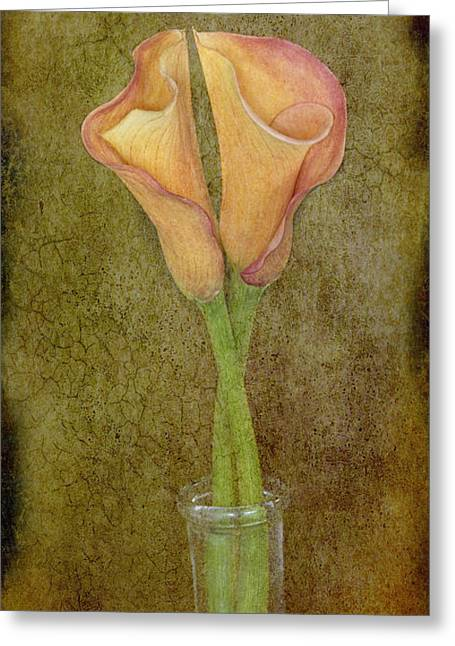 Antiqued Lilies Greeting Card