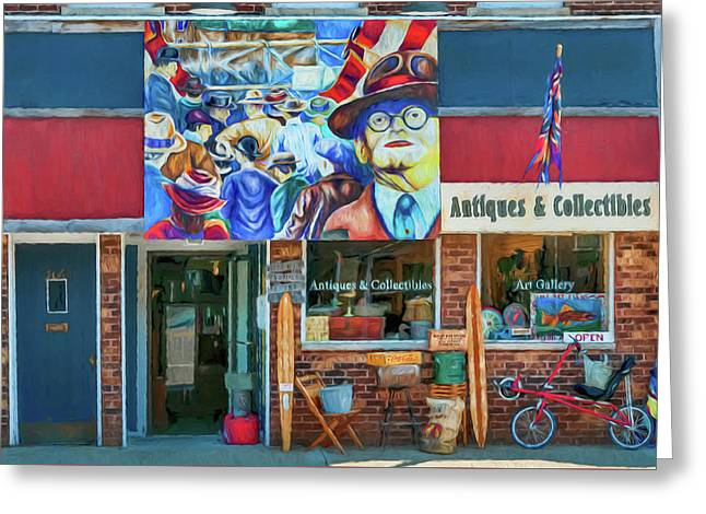Antiques And Collectibles Greeting Card by Trey Foerster