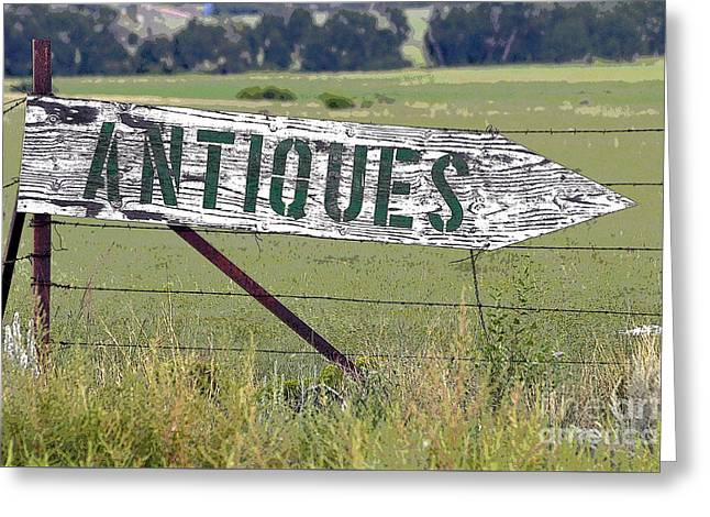 Antiques  Greeting Card by Juls Adams