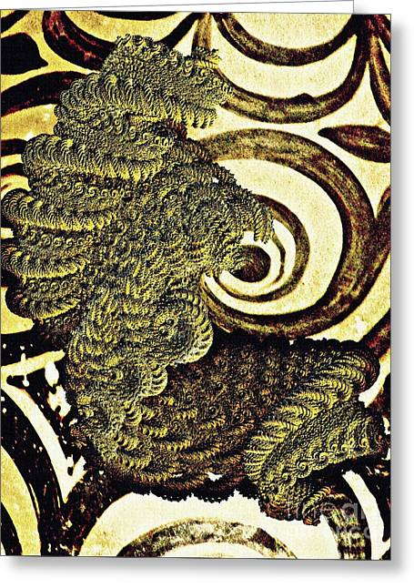 Antiquity In The Coils Of Time Greeting Card by Sarah Loft