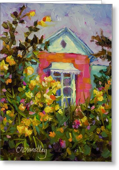 Greeting Card featuring the painting Antoinette's Cottage by Chris Brandley