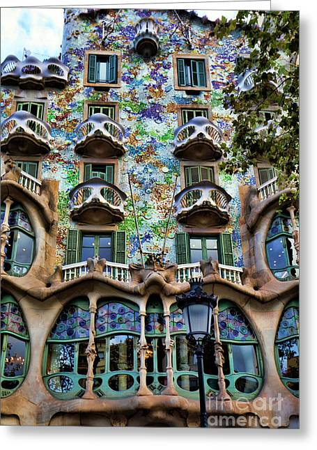 Antoni Gaudi's Casa Batllo Barcelona Spain  Greeting Card
