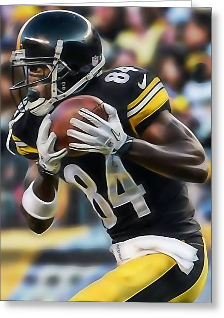 Antonio Brown Collection Greeting Card by Marvin Blaine