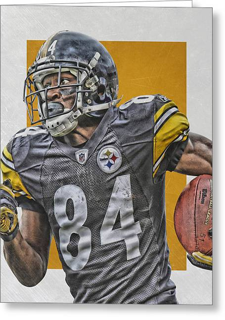 Antonio Brown Pittsburgh Steelers Art 3 Greeting Card