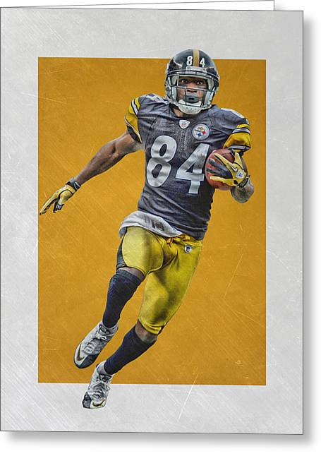 Antonio Brown Pittsburgh Steelers Art Greeting Card