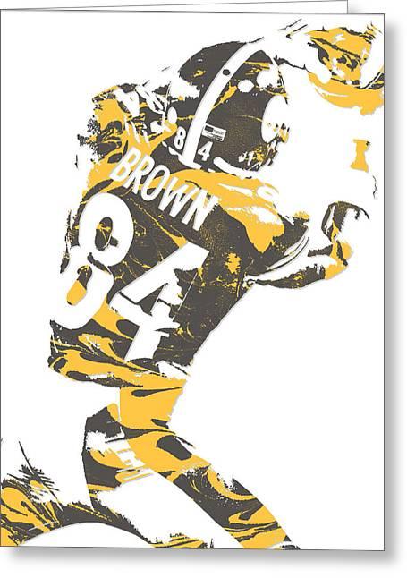 Antonio Brown Pittsburgh Steelers Pixel Art 16 Greeting Card